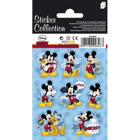 Drie Mickey Mouse stickervelletjes