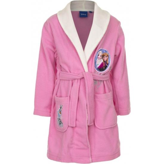 Frozen badjas meisjes roze met wit