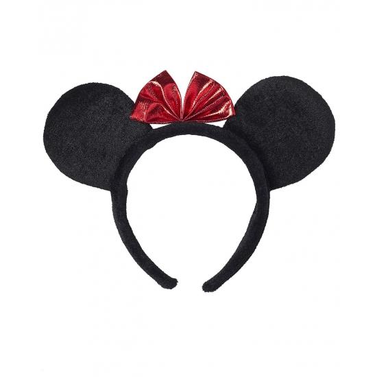 Haarband met zwarte muisoren en strik