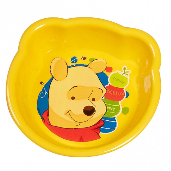 Kinder schaaltje geel Winnie de Poeh 16 cm