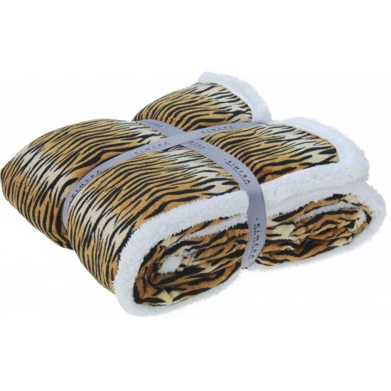 Luxe fleece kleed tijgerprint