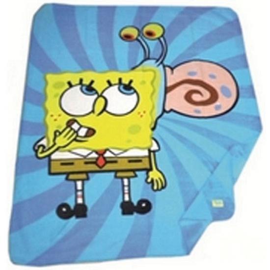 Nickelodeon Spongebob Squarepants fleece deken blauw
