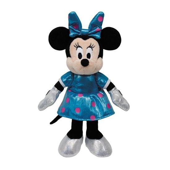Zachte Minnie Mouse knuffel die lacht 35 cm