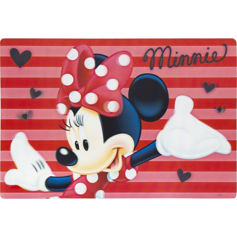 3D placemat Disney Minnie Mouse rood 42 x 28 cm