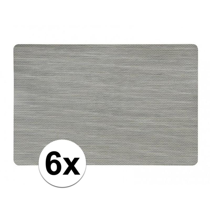 6x Gouden placemat 43 x 28 cm