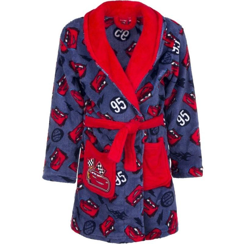Cars fleece badjas rood-blauw voor jongens