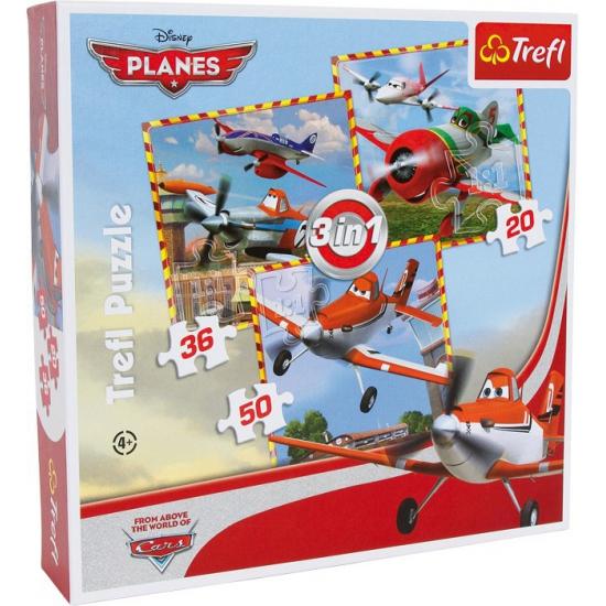 Disney Planes puzzels 3 in 1
