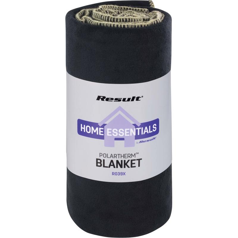 Fleece plaid/deken zwart 140 x 175 cm luxe/dikke kwaliteit