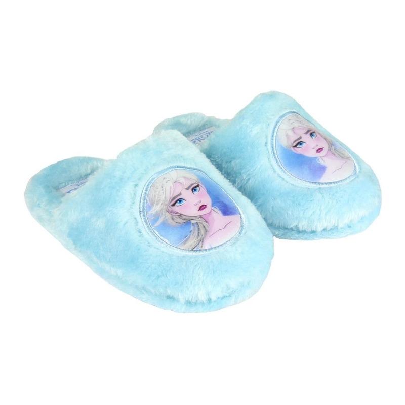 Frozen instap sloffen/pantoffels Elsa lichtblauw voor meisjes