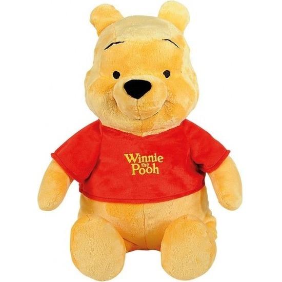 Gele Disney Winnie de Poeh beer knuffel 34 cm speelgoed