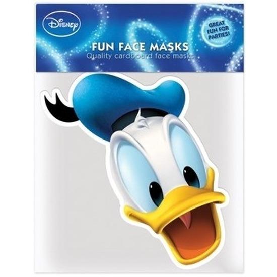 Kartonnen maskertje Donald Duck