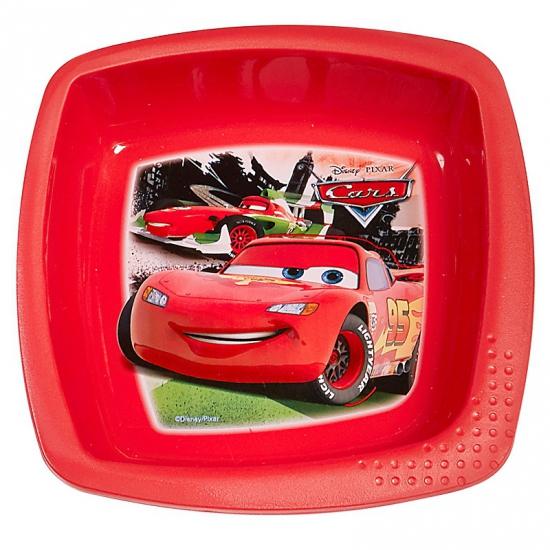 Kinder schaaltje rood Cars 16 cm