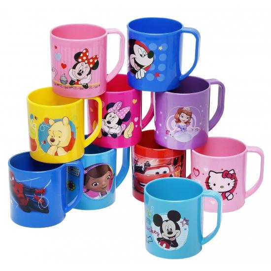 Lichtroze mok met plaatjes van Minnie Mouse