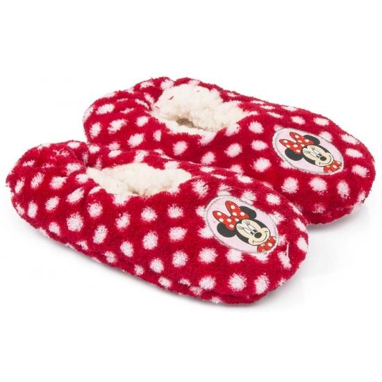 Minnie Mouse kado slofjes rood