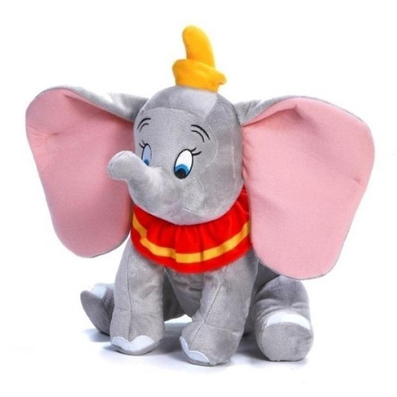 Pluche Disney Dumbo knuffel grijs 30 cm