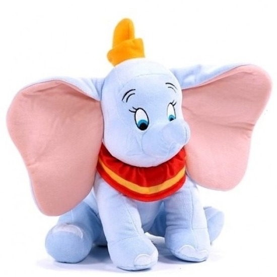 Pluche Disney Dumbo knuffel lichtblauw 30 cm