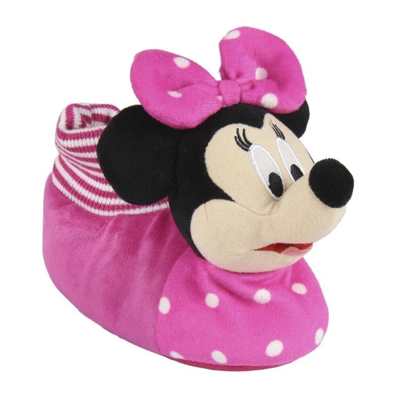 Roze Disney Minnie Mouse 3D sloffen/pantoffels voor meisjes