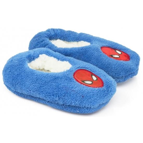Spiderman kado slofjes blauw